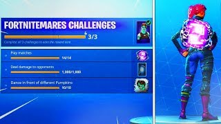 "the NEW ""FORTNITEMARES CHALLENGES"" + FREE BACKBLING! (FORTNITEMARES UPDATE)"