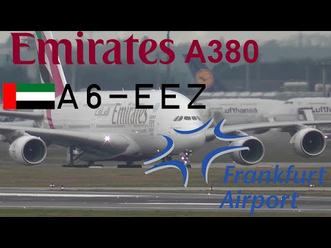 Emirates A380 at Frankfurt Airport [FullHD]