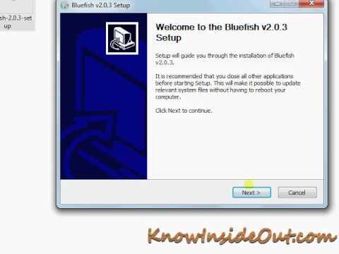 BlueFish HTML Editor Installation Punjabi ਪੰਜਾਬੀ