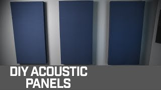 HOW TO // DIY Acoustic Panels for your Home Studio!