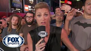 Erin Andrews Photobombed on FOX NFL Sunday