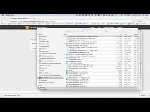 Import youtube audio into studio one