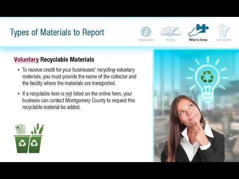 Filing Your Annual Business Recycling and Waste Reduction Report On-line Tutorial thumbnail