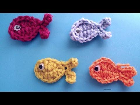 Very Easy  Crochet Fish Applique