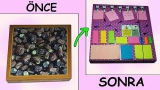 Çikolata Kutusundan Planlayıcı Klasör | Use The Chocolate Box For Diy Organizer