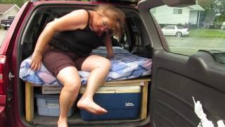 Toyota Rav 4 car bed sleeps 2 comfortably - install in less than five minutes. rodgiffen@hotmail.com