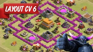 Clash of Clans | Layout CV6 Guerra | TH6 WAR