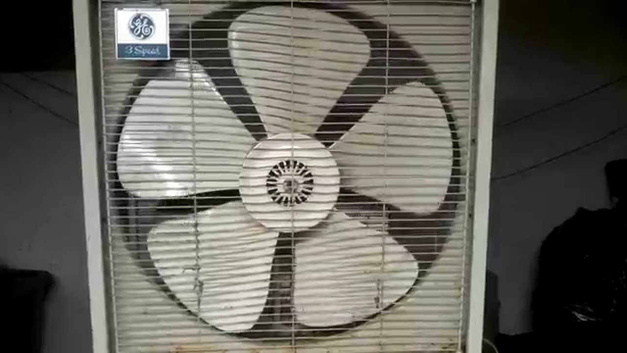 Ge General Electric 20 Quot Plastic Blade Box Fans Youtube