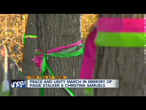 Peace & Unity Walk with families of Paige Stalker, Christina Samuel on Saturday
