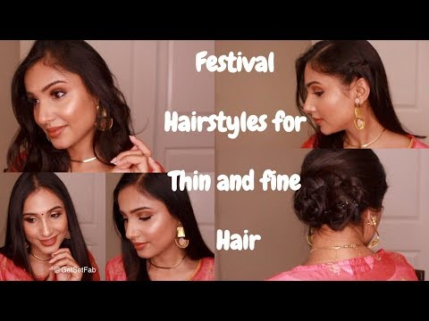 hairstyles-for-fine,-thin-and-short-for-the-festival-season-|-short-hair-tutorial-|-get-set-fab