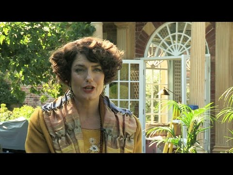 Anna Chancellor unwraps Lucia  Mapp and Lucia  BBC One Christmas 2014