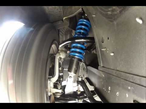 Street or Track Front Bilstein Coilover System in action