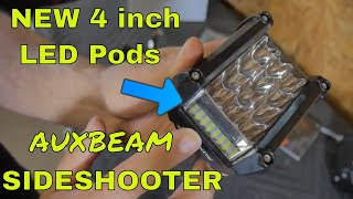 Auxbeam New Side Shooter 4 inch LED POD REVIEW