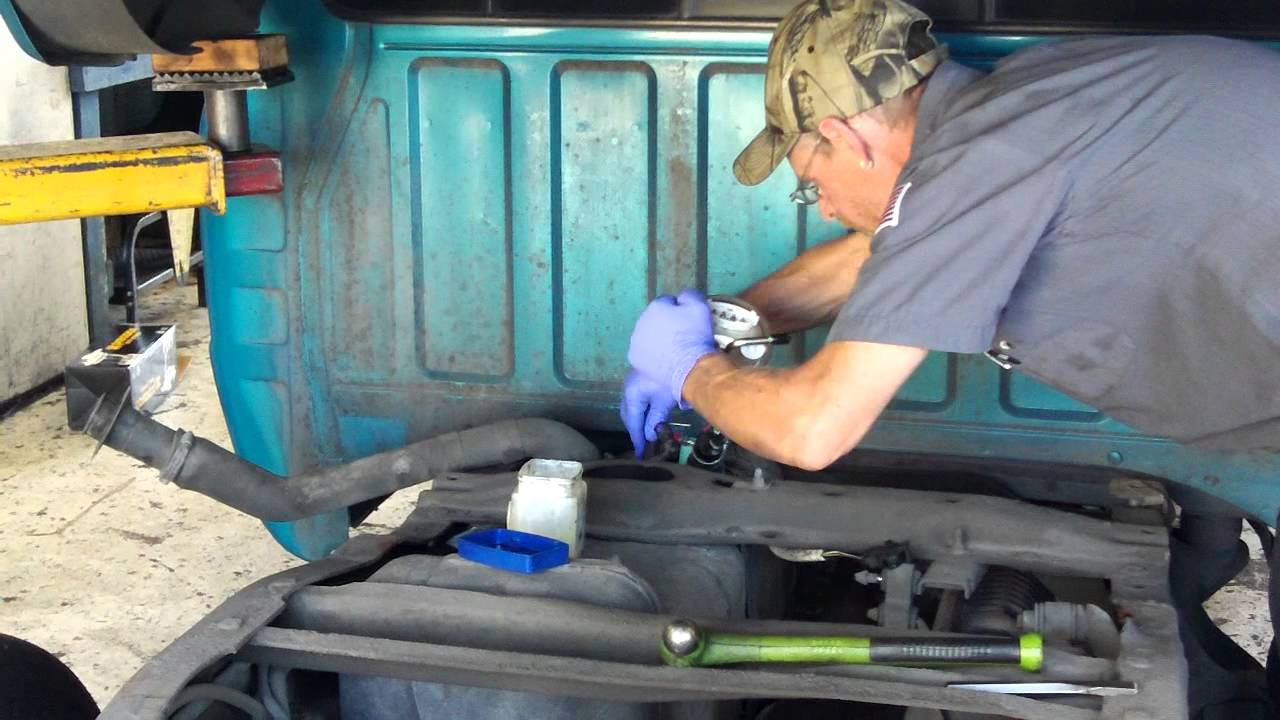 hight resolution of mazda pick up fuel pump replacement