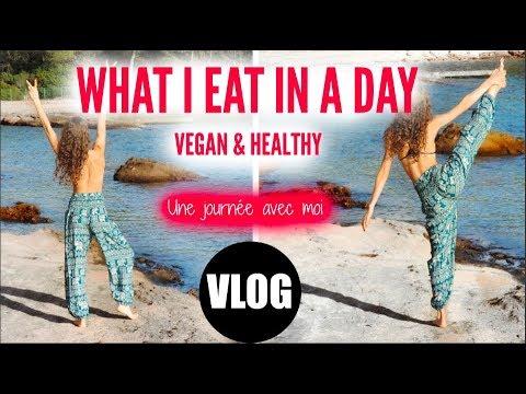 WHAT I EAT IN A DAY – IDEÉE RECETTES PIZZA VEGAN & SMOOTHIE – MISS MÉTÉO ? – VLOG