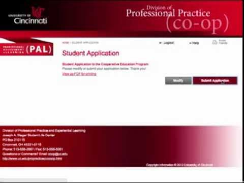 00 Apply to the Co op Program