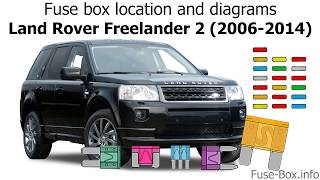fuse box location and diagrams: land rover freelander 2 (2006-2014) -  youtube  youtube