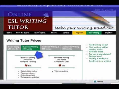 Onine ESL Writing Tutor