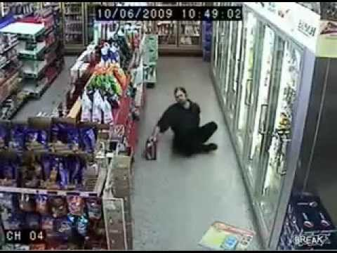 Drunk Guy In Supermarket