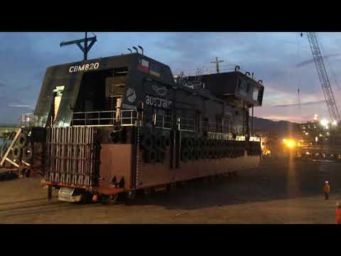 Transporter Elevating 270 ton move Feed barge N480CL19 at PV Shipyard (VietNam)