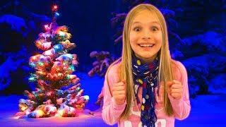 Amelia, Avelina and Akim Christmas adventure fun with a magic snow globe and Santa Claus