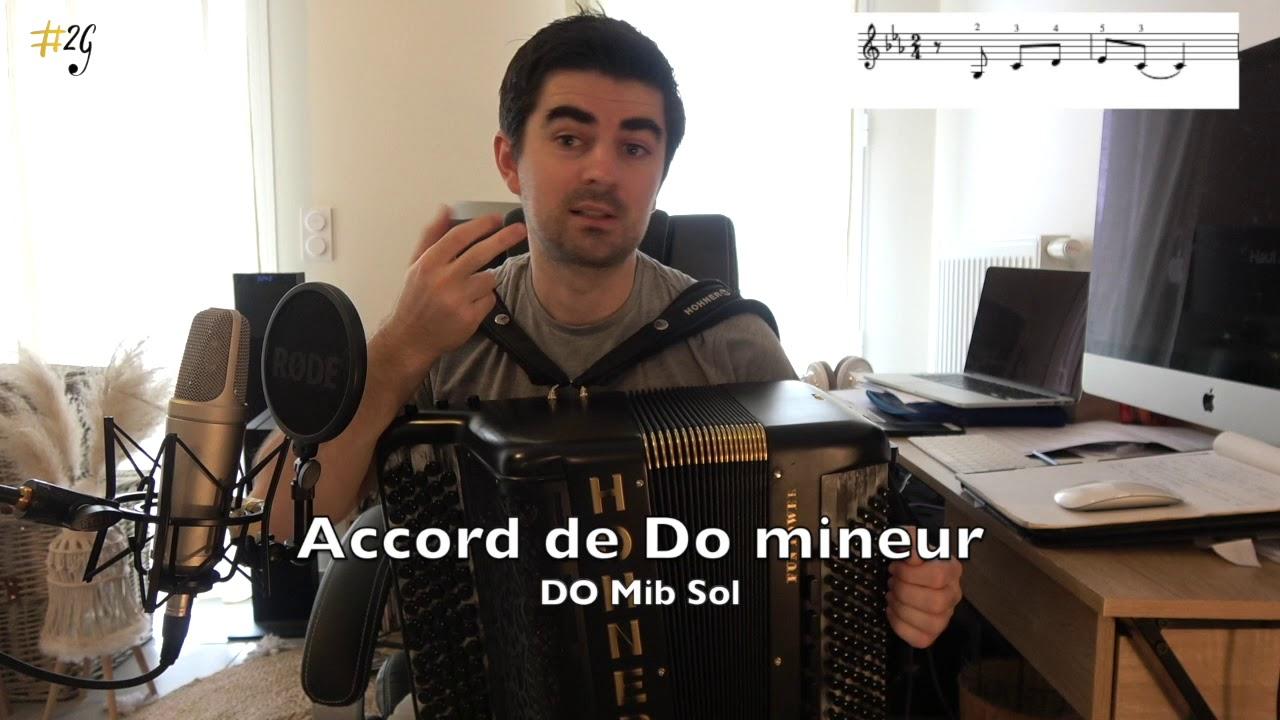 Apprendre l'accordéon 7 - Cours 5 : Les accords mineurs et 7èmes