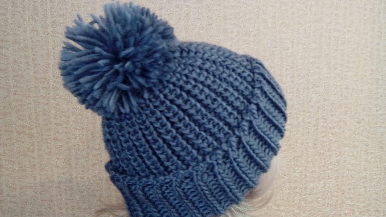 Модные женские вязаные шапки - YouTube