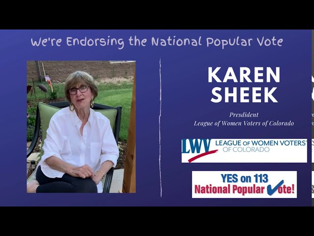Why the League of Women Voters of Colorado Endorses YES on Prop. 113, the National Popular Vote