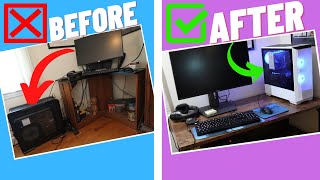 Gaming PC and Desk Makeover - Remaking a Simple and Easy Gaming Setup