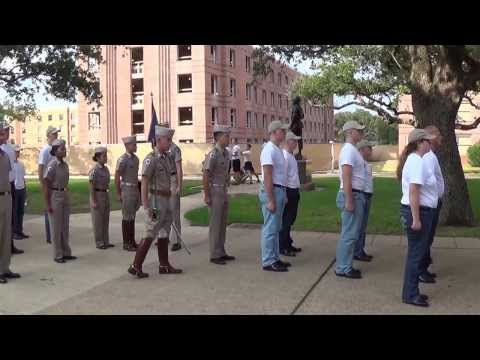 Texas A&M Corps of Cadets FOW Evening Formation '13