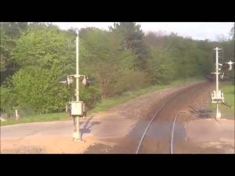 REAR VIEW - Amtrak's Empire Builder - Tomah to Tunnel City, WI