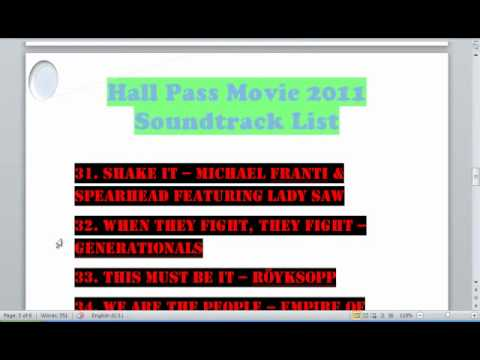 Hall Pass Movie Soundtrack List FULL