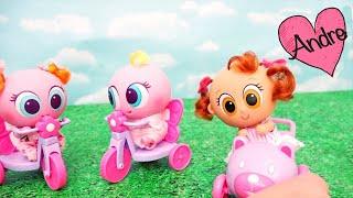 Bebes en el parque y Pozole se come la ksi papilla Muñecas y juguetes con Andre para niñas y niños