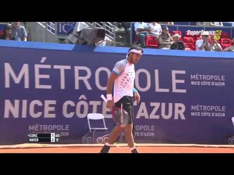Borna Coric vs Leonardo Mayer FULL MATCH Nice 2015 PART 1