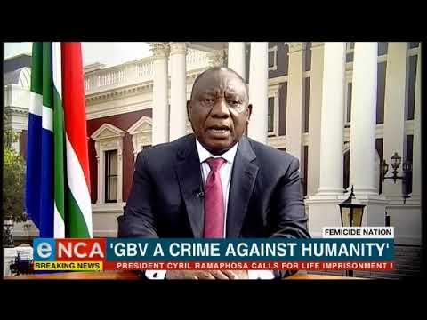 Ramaphosa - eNCA, is 'n misdaad teen die mensdom