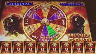 💲💲 MASSIVE JACKPOT! HANDPAY!  on BUFFALO GOLD REVOLUTION! 15 GOLD BUFFALO'S!