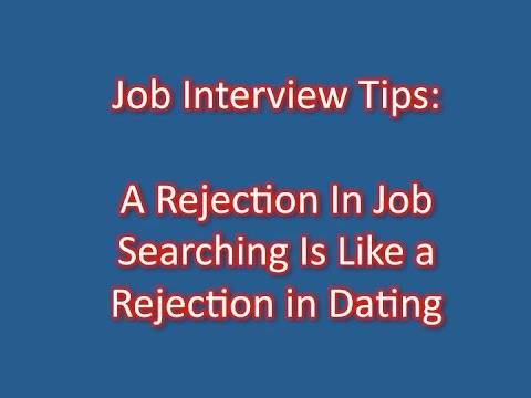 dating like a job interview