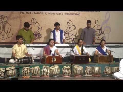 Swar - Taal Sadhana`s Students, playing Harmonium, Synthesizer & Dholki with Lavani  Apsara Aali