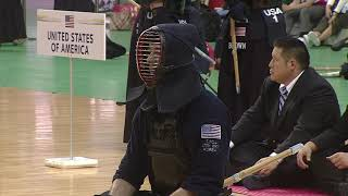 17th World Kendo Championships Men's TEAM MATCH 6ch Italy vs United States of America