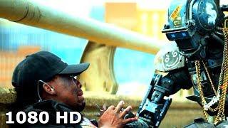 Чаппи извиняется перед полицейскими   Робот по имени Чаппи (2015)
