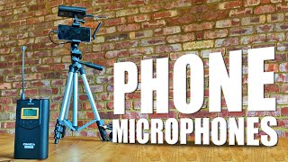 Great sound using your mobile phone and wireless microphones from Comica WM100 Lavalier Mic