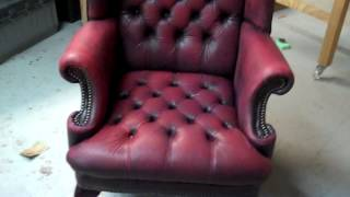 Platiunum Care / All County Leather   Full Color Leather Chair Restoration