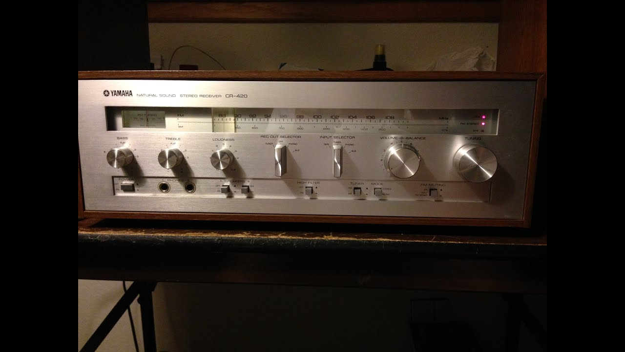 Yamaha CR420 Repair (One Channel Out) & Demo