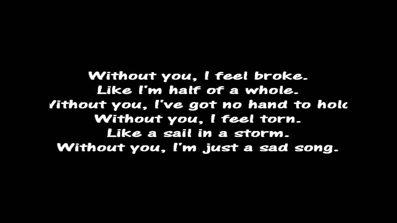 We The Kings - Sad Song (Lyrics By Xiao Zaii) - YouTube Sad Song Lyrics