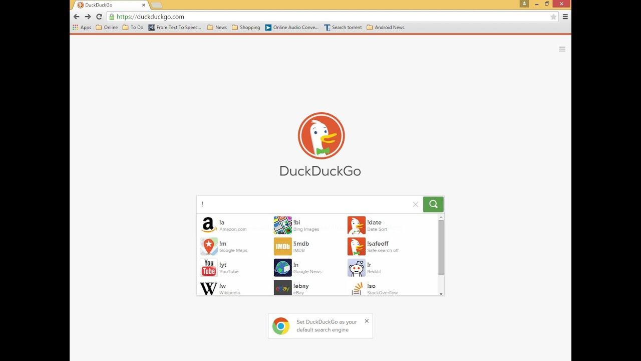 DuckDuckGo New Search Engine (Tips & Tricks)