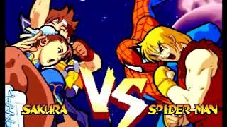 Marvel Super Heroes VS. Street Fighter (Sega Saturn) Arcade as Chun-Li/Sakura