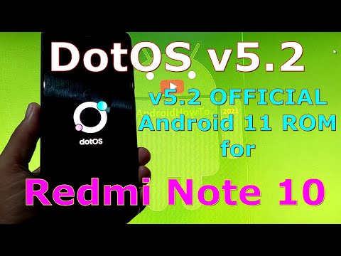 DotOS v5.2 OFFICIAL for Redmi Note 10 ( Mojito / Sunny ) Android 11