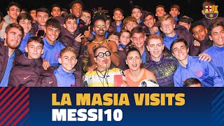 La Masia's kids visit the Messi10 Cirque du Soleil show