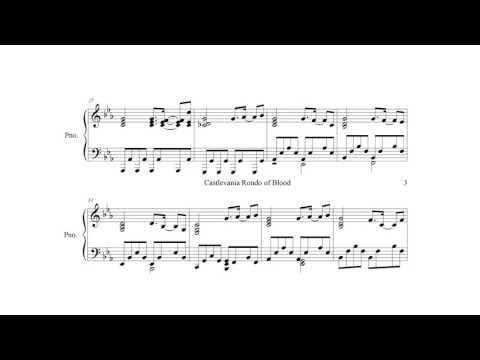 Castlevania Rondo of Blood Opposing Bloodlines Piano