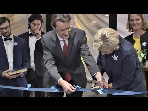 Inauguration du Musée L en présence de son Altesse Royale la Princesse Astrid